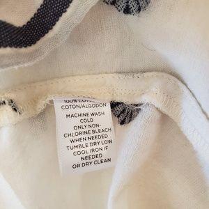 LOFT Tops - Loft ruffle sleeveless cream grey blouse small